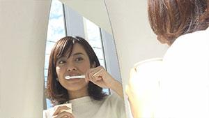 最後にもう一度歯磨きを行い終了です。